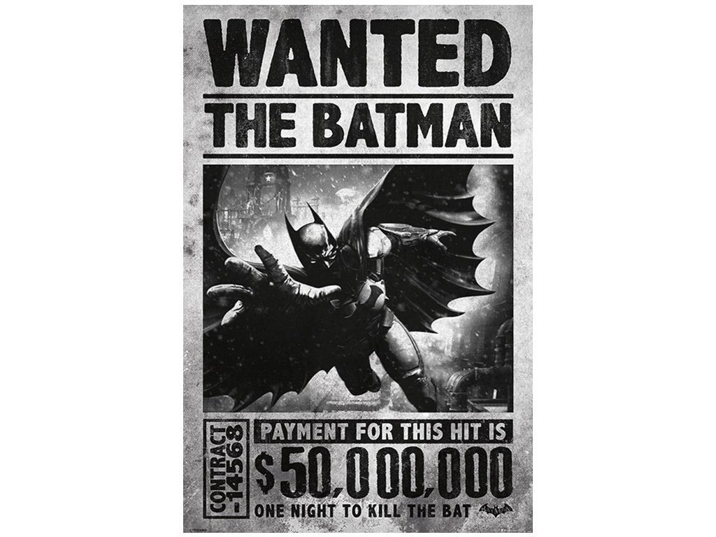 Plakát DC Comics|Batman Arkham: Wanted (61 x 91,5 cm)