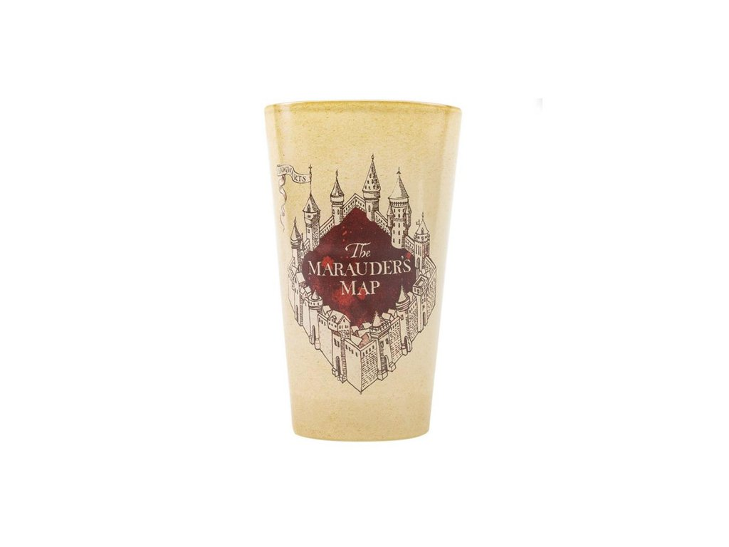 Sklenice Harry Potter: Marauders Map (objem 500 ml)
