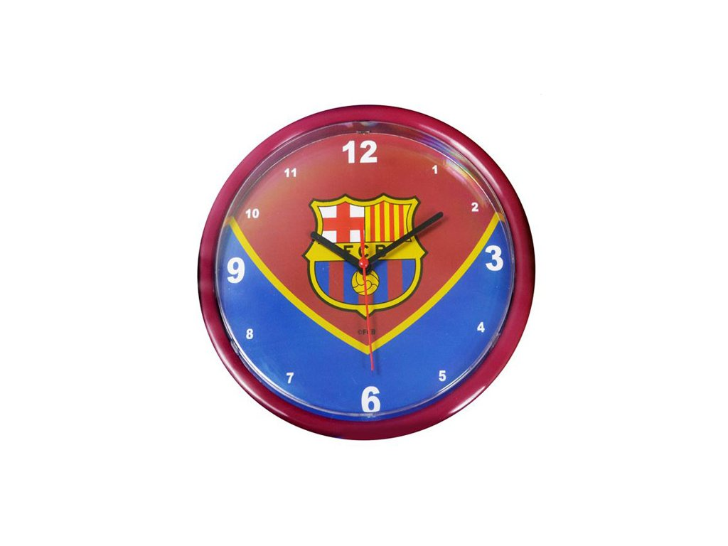 HODINY NÁSTĚNNÉ/BARCELONA FC  KULATÉ/24 cm/SWOOP
