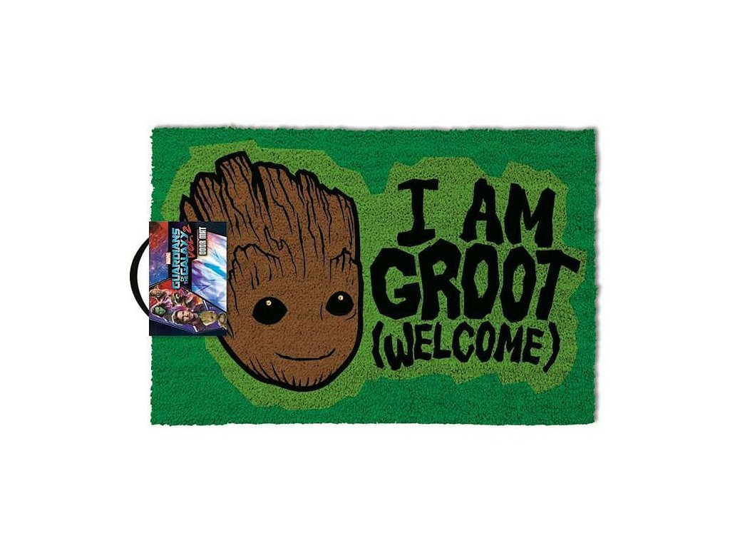 Rohožka Guardians Of The Galaxy|Strážci galaxie: I'm Groot Welcome (60 x 40 cm) zelená