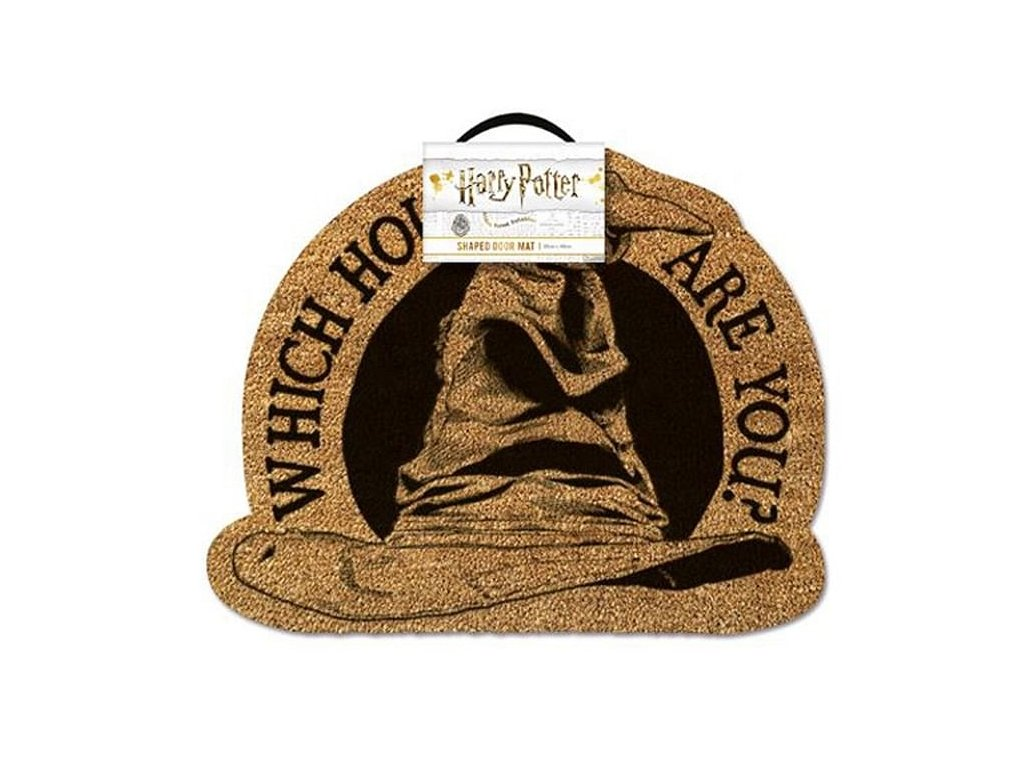 Rohožka Harry Potter: 2D klobouk (50 x 40 cm) hnědá