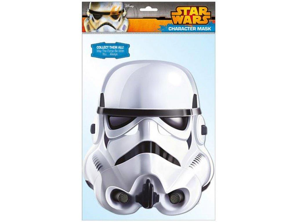 Papírová maska na tvář Star Wars Hvězdné Války: Stormtrooper papírová (22 x 36 cm) CurePink