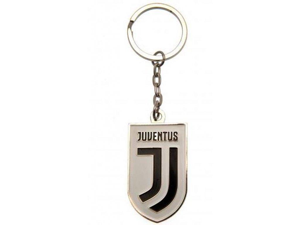 Kovová klíčenka FC Juventus Turín: Znak (4 x 2,3 cm)