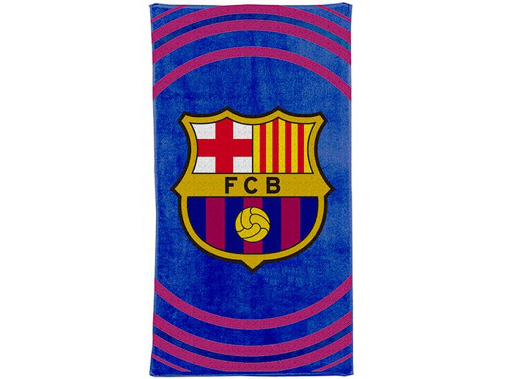 Osuška ručník FC Barcelona: Pulse (70 x 140 cm) modrá bavlna