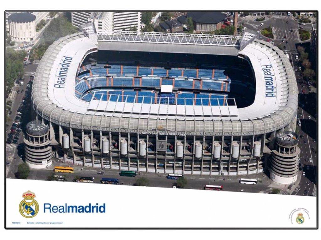 PODLOŽKA NA STŮL|REAL MADRID FC  49,5 x 34,5 cm|SANTIAGO BERNABEU