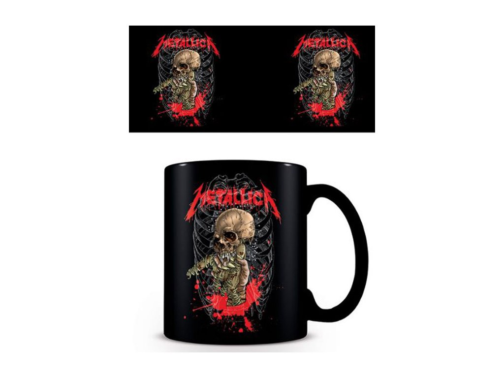 Černý keramický hrnek Metallica: Skull - lebka (objem 315 ml)
