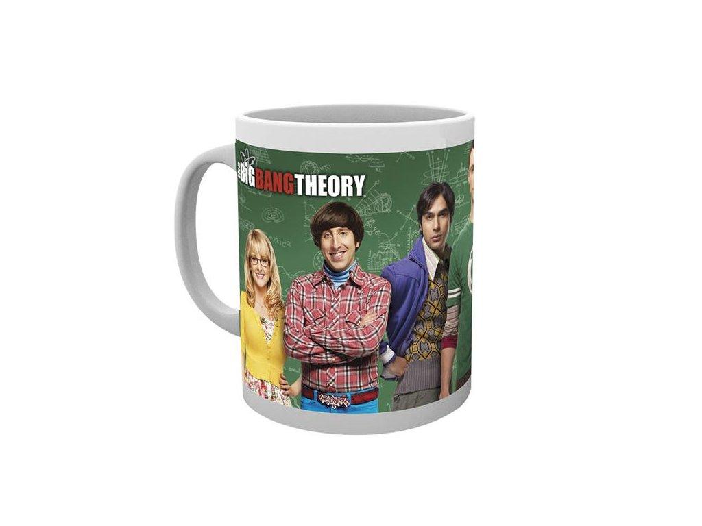 Bílý keramický hrnek The Big Bang Theory|Teorie velkého třesku: Cast (objem 300 ml)