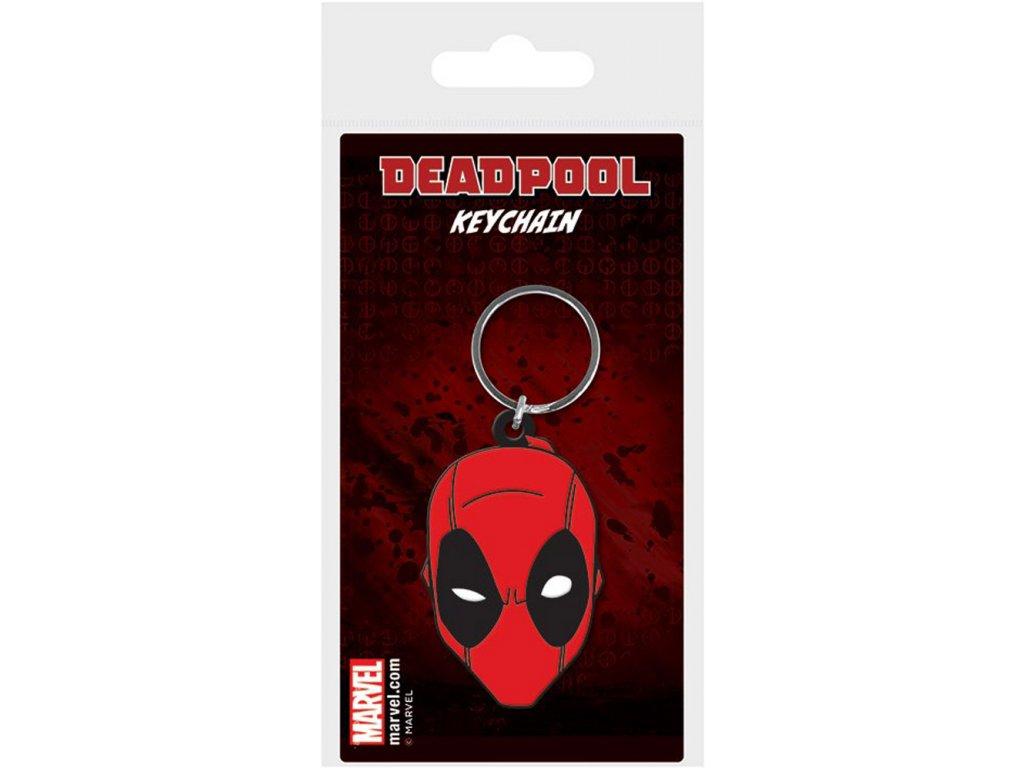 Přívěsek na klíče Marvel: Deadpool Face (5 x 6 cm)