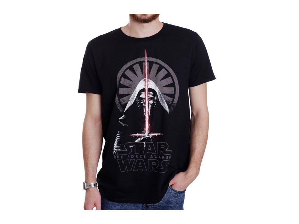 Pánské tričko Star Wars VII Hvězdné války: Kylo Ren Shadows  černé bavlna