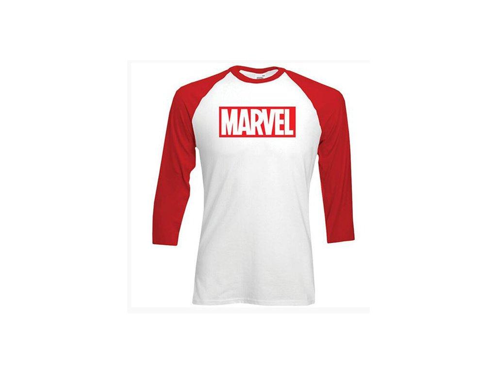 Pánské tričko Marvel: Logo (L) bílá bavlna