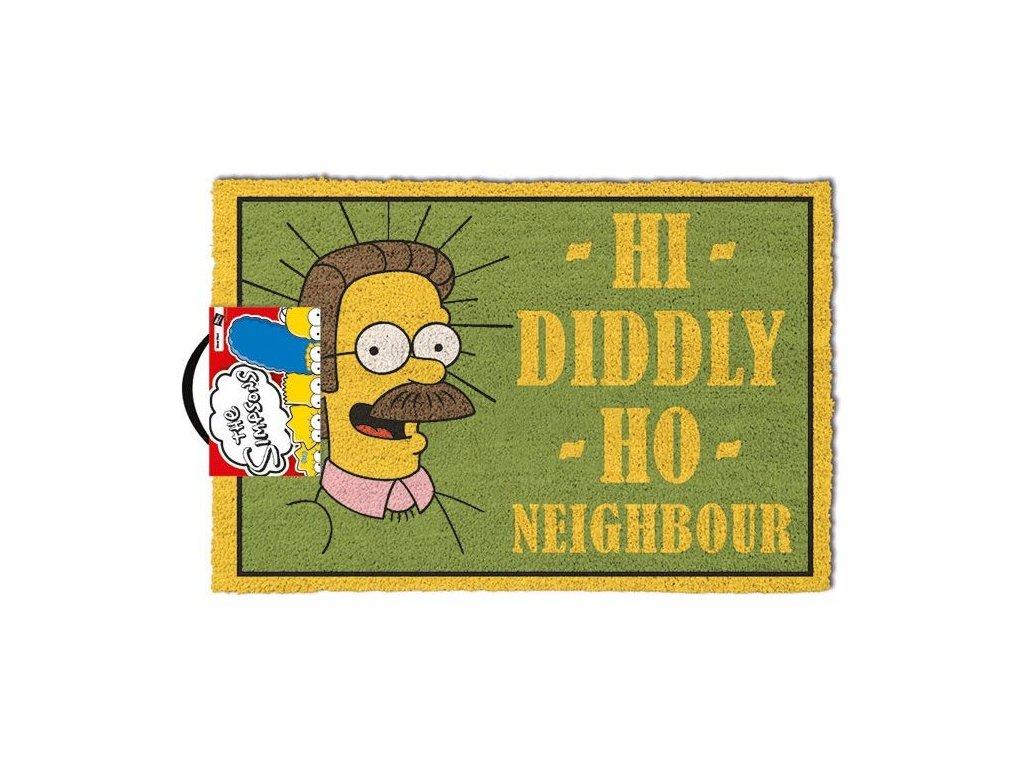 Rohožka The Simpsons: Hi Diddly Ho Neighbour (60 x 40 cm) zelená