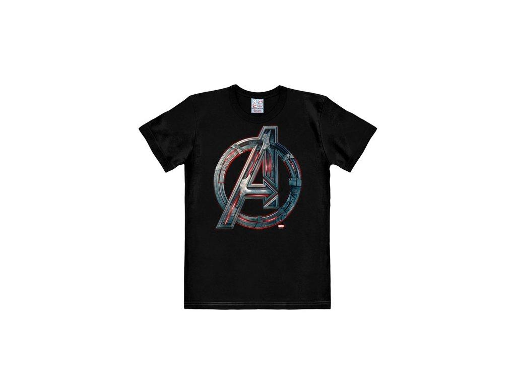 Pánské tričko Marvel|Avengers: Age Of Ultron (S) černé bavlna