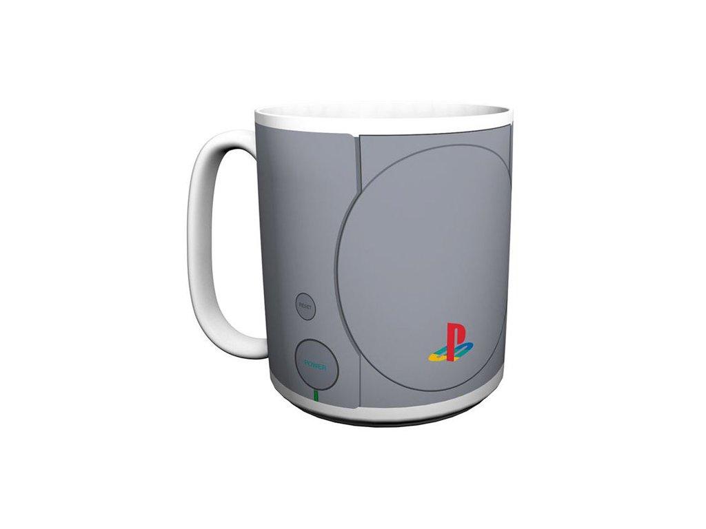 Velký bílý keramický hrnek Playstation: Console (objem 600 ml)