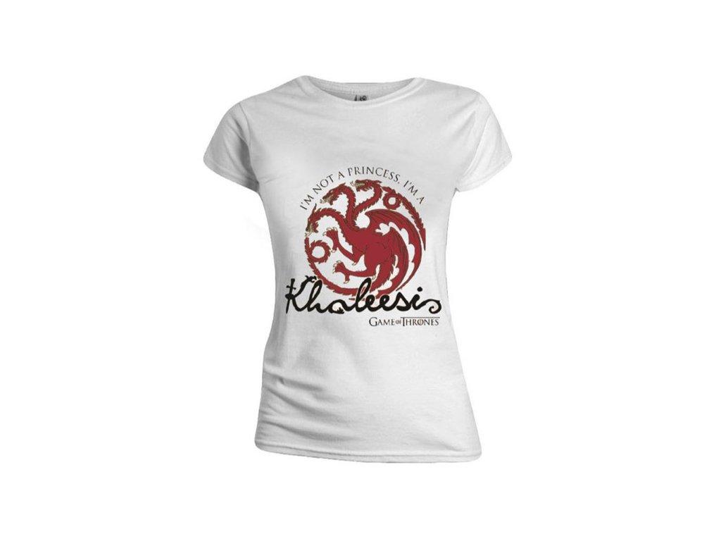 Dámské tričko Game Of Thrones Hra o trůny: Not A Princess (M) bílé