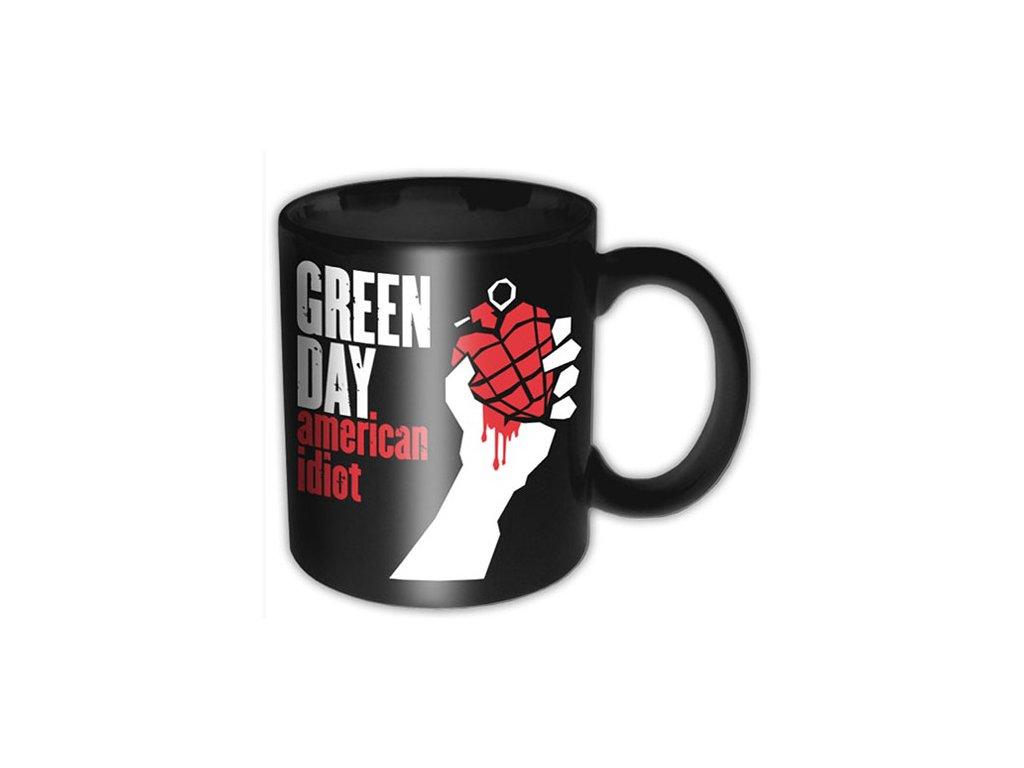 Černý keramický hrnek Green Day: American Idiot (objem 320 ml)