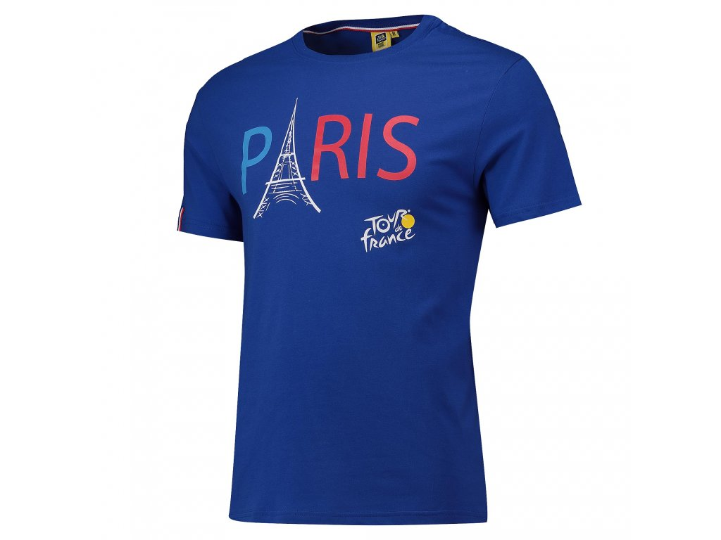 Pánské tričko Tour de France: Paris  modré
