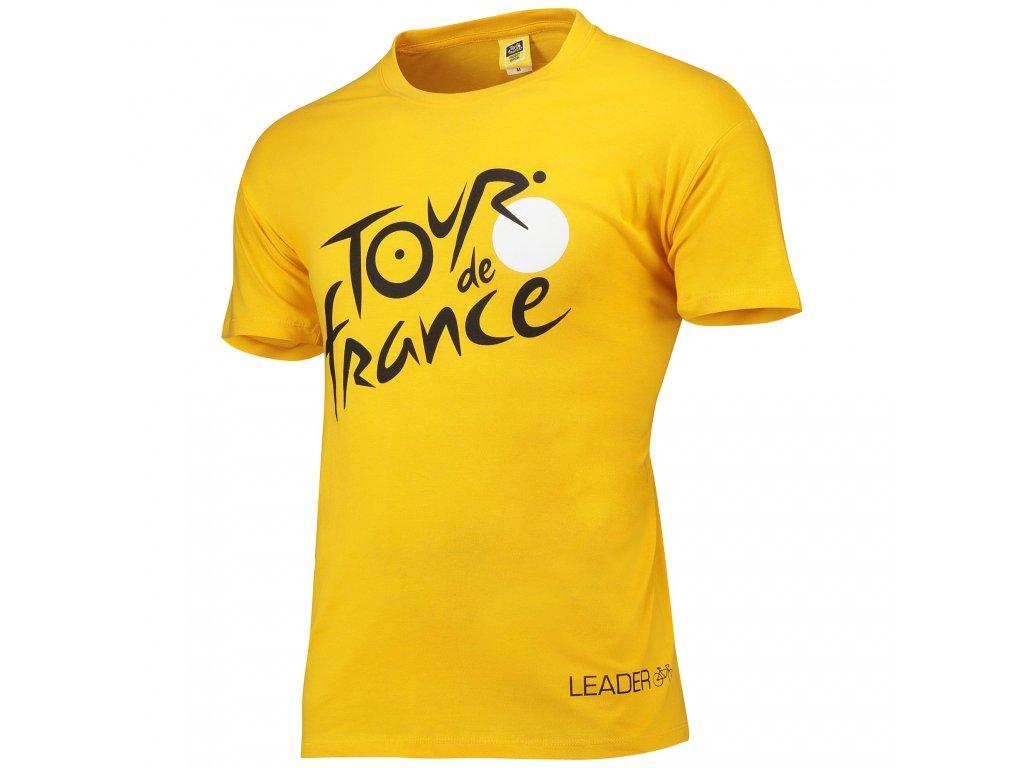 Pánské tričko Tour de France: Logo (M) žlutá bavlna