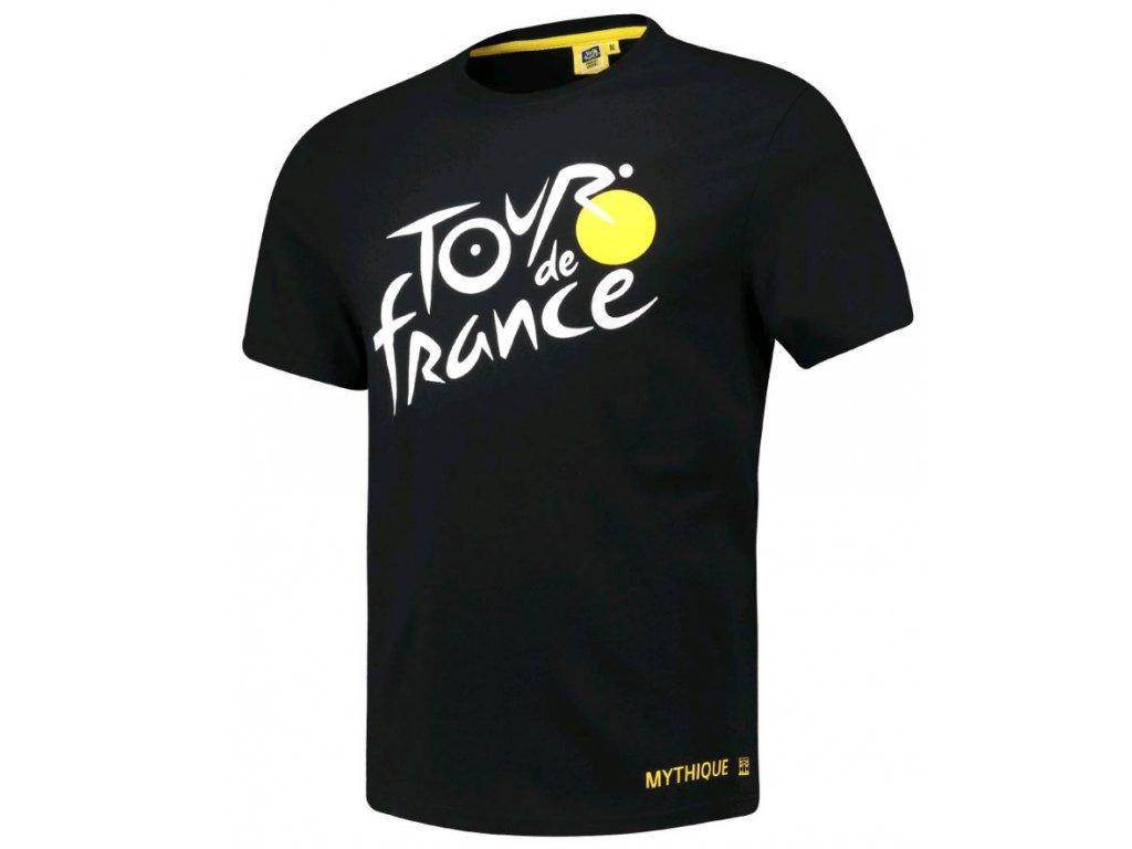 Pánské tričko Tour de France: Logo (2XL) černé bavlna