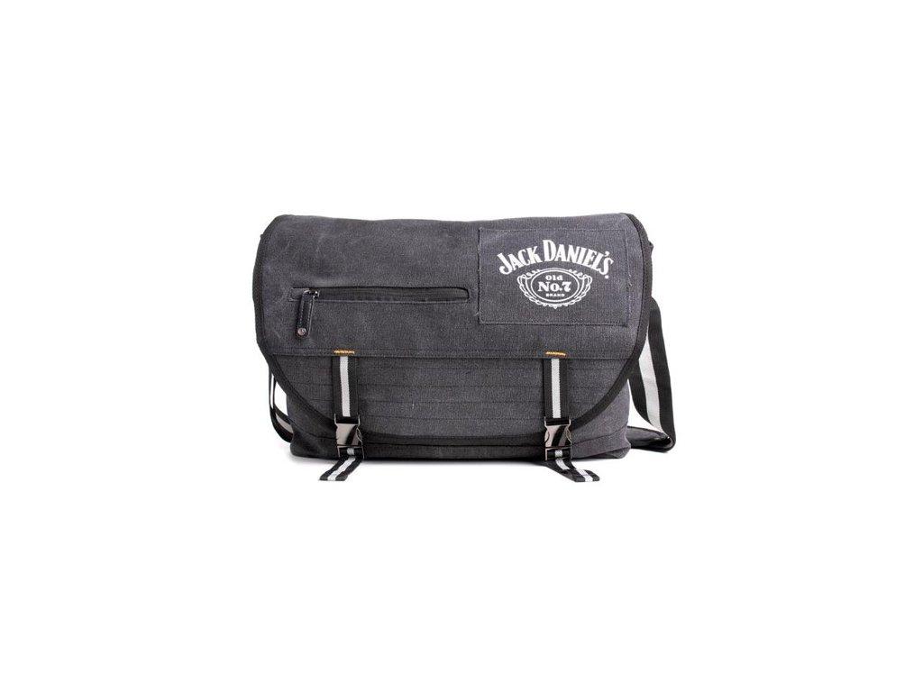 Taška na rameno Jack Daniel's: Logo (objem 16,8 litrů 48 x 35 cm) černá bavlna