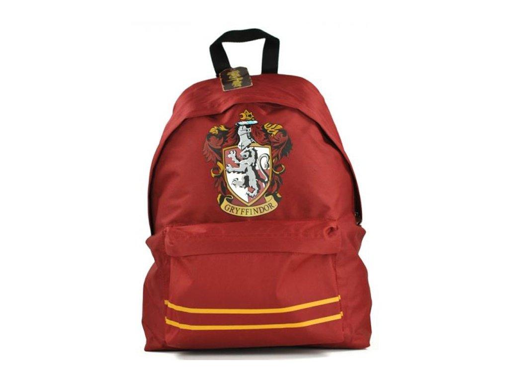 Batoh Harry Potter: Erb koleje Nelevír - Gryffindor (objem 18 litrů|31 x 41 x 14 cm) červený polyester
