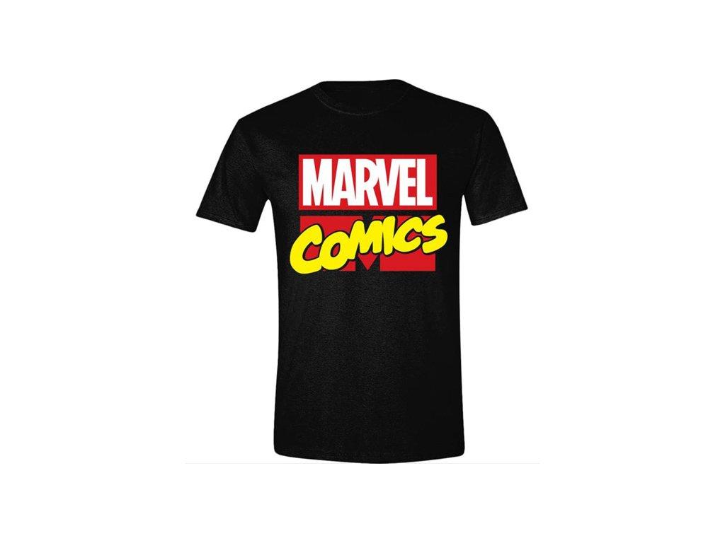 Pánské tričko Marvel Comics: Classic Logo (S) černá bavlna