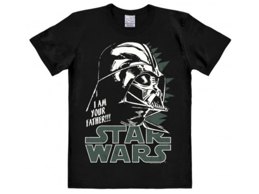 Pánské tričko Star Wars|Hvězdné války: Darth Vader  černé bavlna