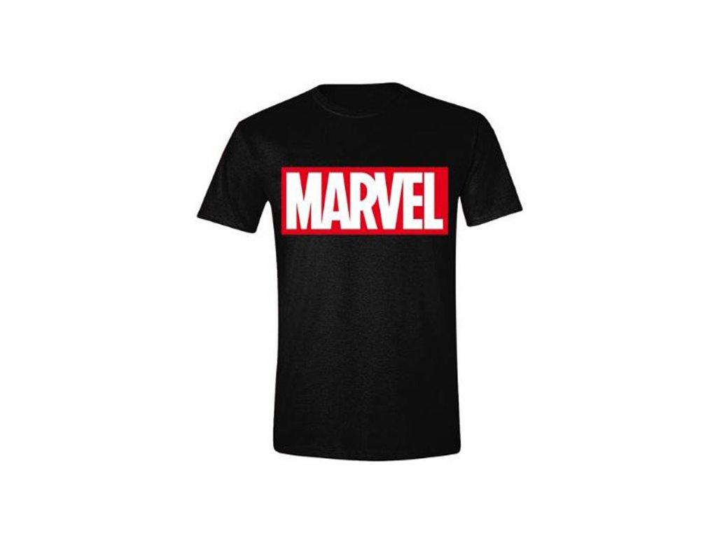 Pánské tričko Marvel: Logo (M) černá bavlna