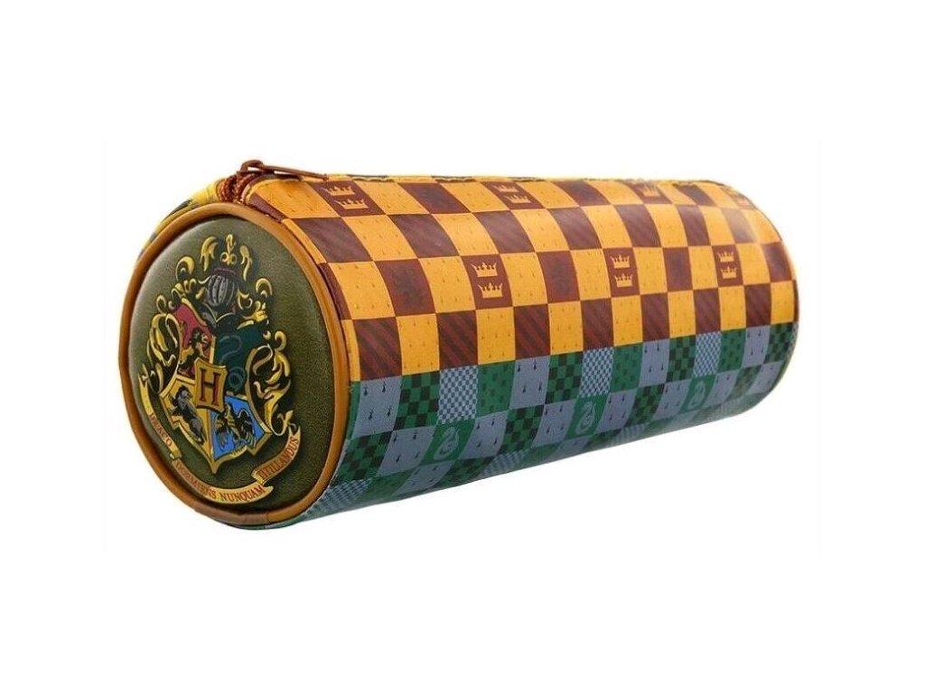 Školní penál na psací potřeby Harry Potter: House Crests Barrel (21,5 x 7,8 cm)