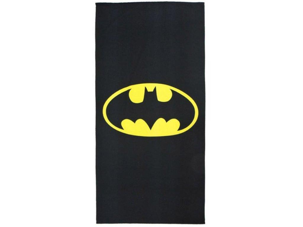 Ručník - osuška DC Comics Batman: Logo (90 x 180 cm) černá polyester