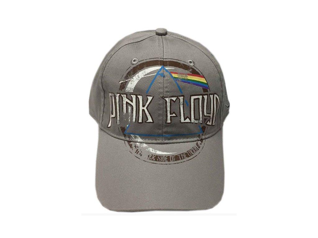 Čepice kšiltovka Pink Floyd: Dark Side (nastavitelná) šedá