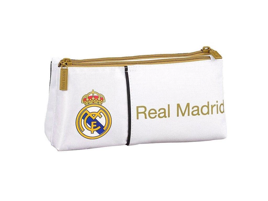 Penál na tužky FC Real Madrid: 11954 (objem 1,7 litrů|10 x 22 x 8 cm) bílý polyester