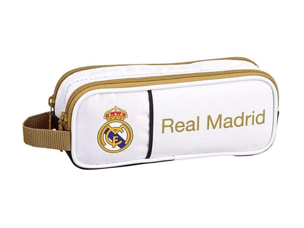 Dvoudílný penál na tužky FC Real Madrid: 11954 (21 x 8 x 6 cm) polyester bílý
