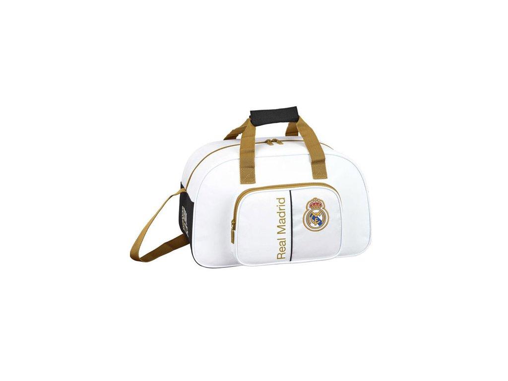 Malá cestovní - sportovní taška na rameno FC Real Madrid: vzor 11954 (22 litrů|24 x 40 x 23 cm) polyester