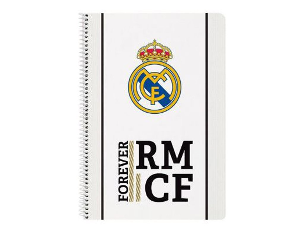 A4 sešit blok v kroužkové vazbě FC Real Madrid: 11954 (A4 21,5 x 31 cm) 80 listů