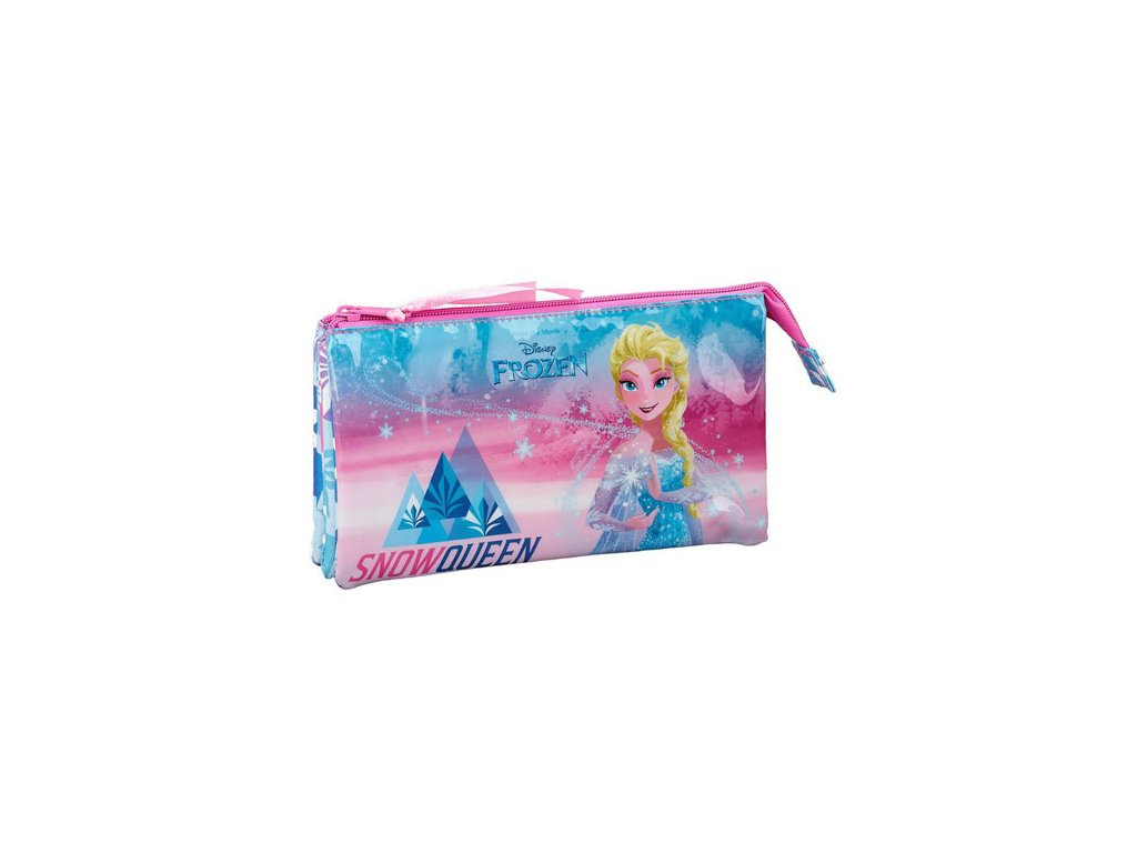 Trojitý penál na tužky Disney|Frozen|Ledové království: 11915 (22 x 12 x 3 cm) polyester