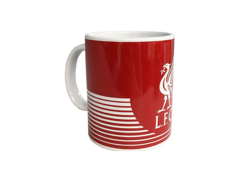 Keramický hrnek FC Liverpool: vzor LN znak (objem 320 ml) bílý
