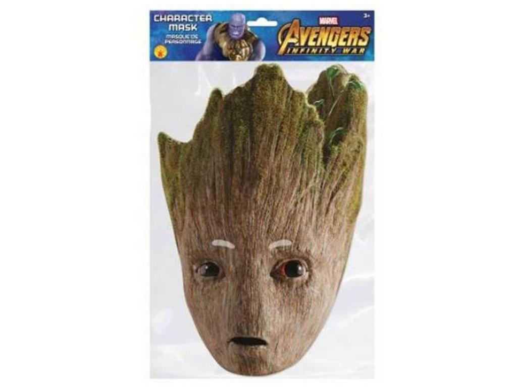 Papírová maska na tvář Avengers: Groot (12 x 30 cm) papír