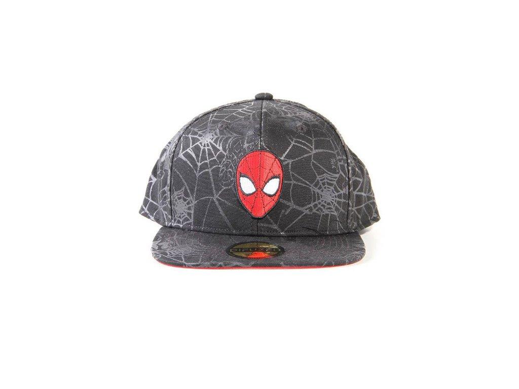 Čepice snapback - kšiltovka Marvel: Spiderman maska (nastavitelná)