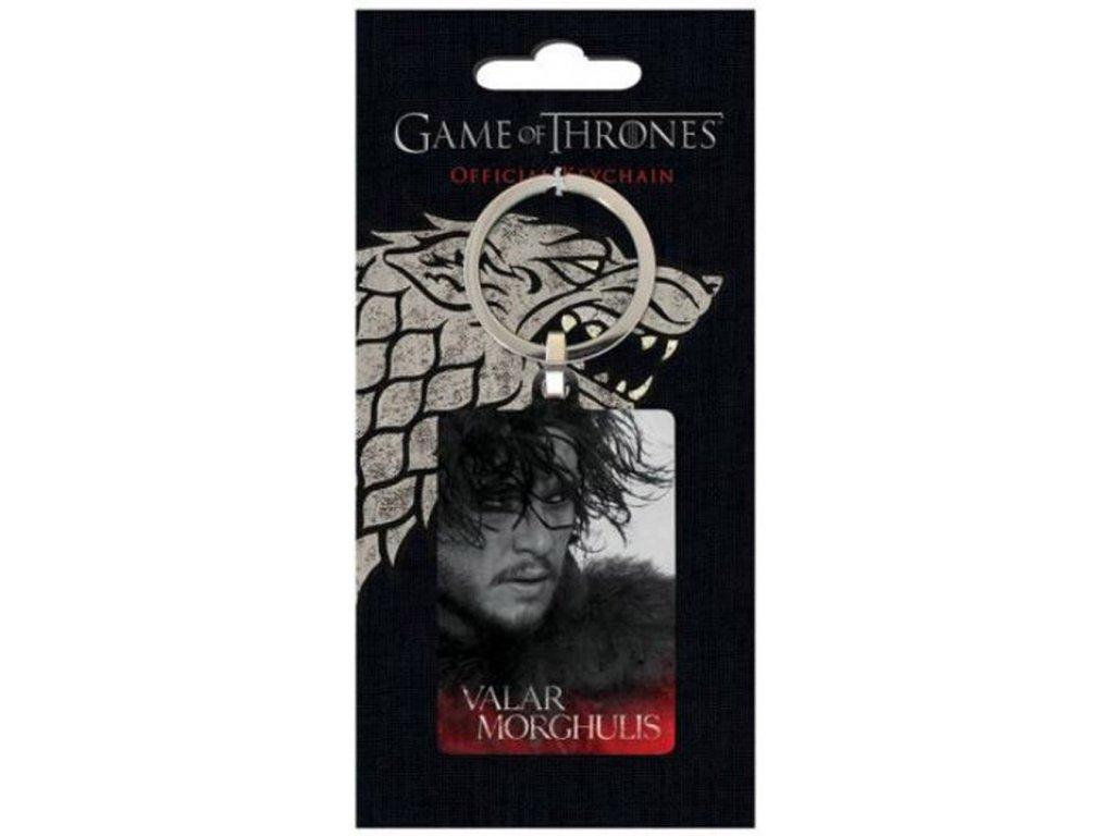 Klíčenka Game Of Thrones Hra o trůny: Jon Snow (4 x 6 cm)