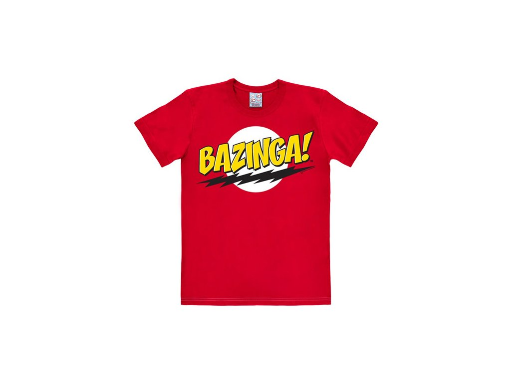 Pánské tričko Big Bang Theory|Teorie velkého třesku: Bazinga  červené bavlna