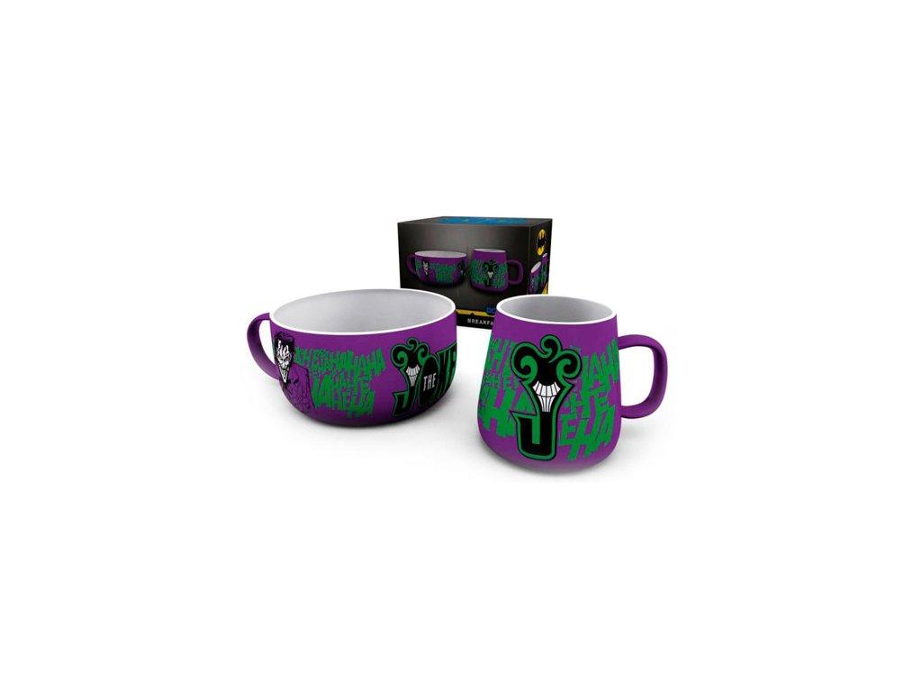 Keramický set DC Comics: The Joker (objem misky 858 ml|hrnku 385 ml)
