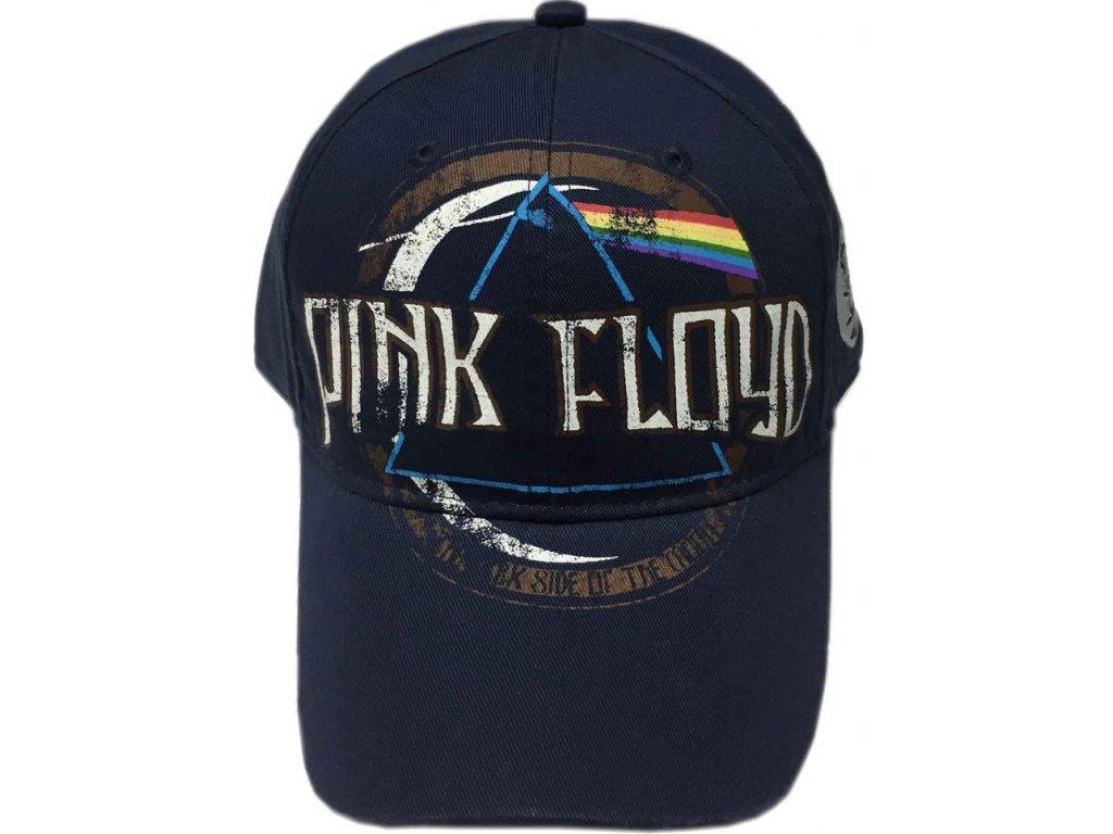 Čepice kšiltovka Pink Floyd: Dark Side Of The Moon (nastavitelná) navy bavlna