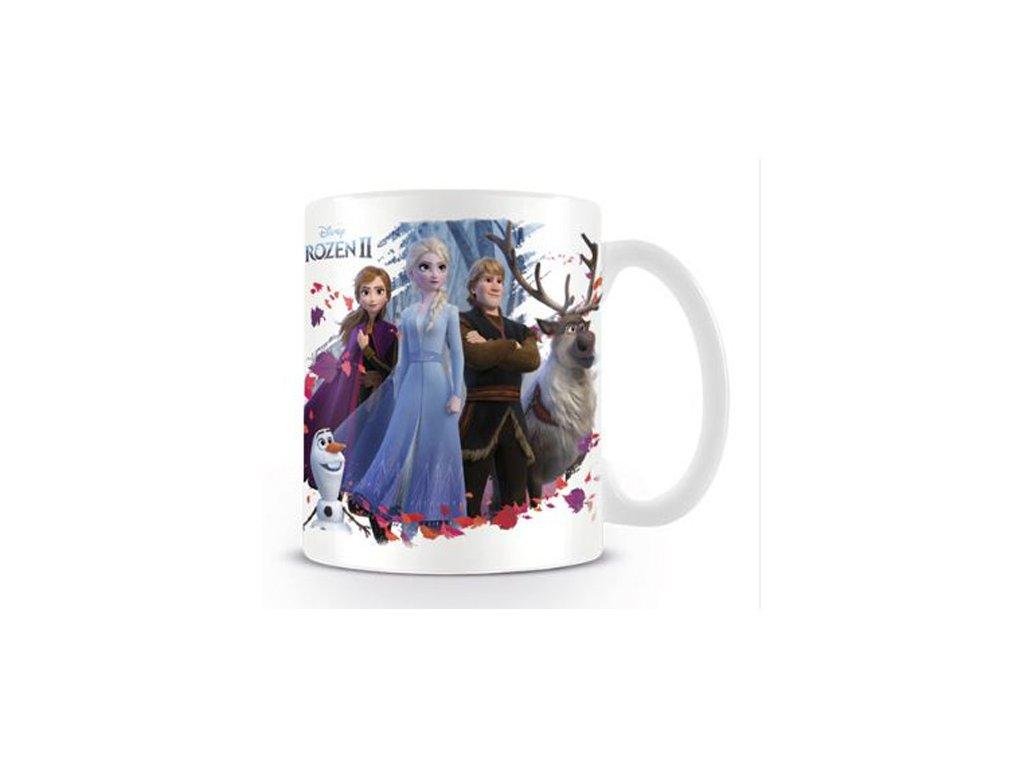 Bílý keramický hrnek Frozen II|Ledové Království: Group (objem 315 ml)