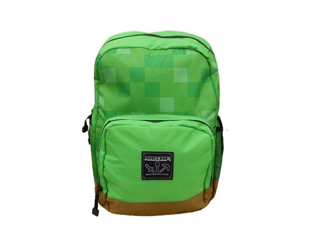 Školní batoh Minecraft: Shelter (objem 18 litrů, 40 x 30 x 15 cm) zelená polyester