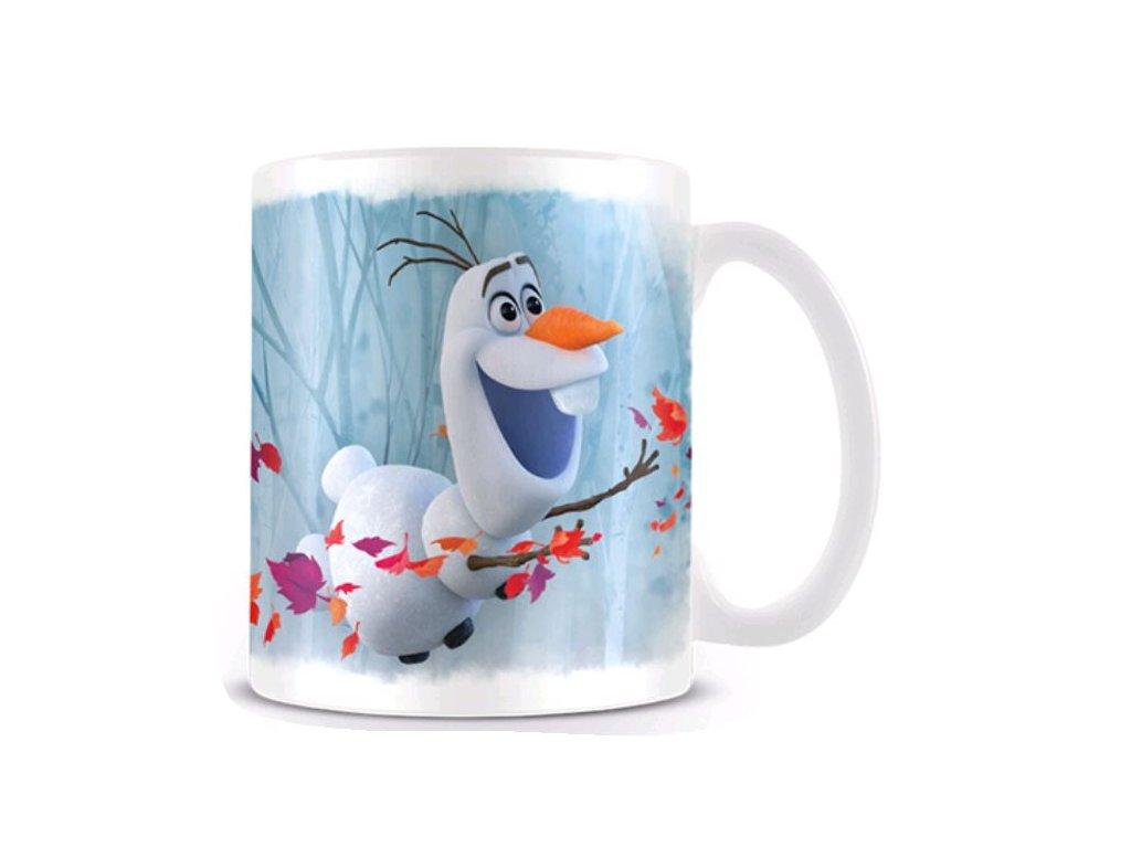 Bílý keramický hrnek Frozen II|Ledové království: Olaf (objem 315 ml)