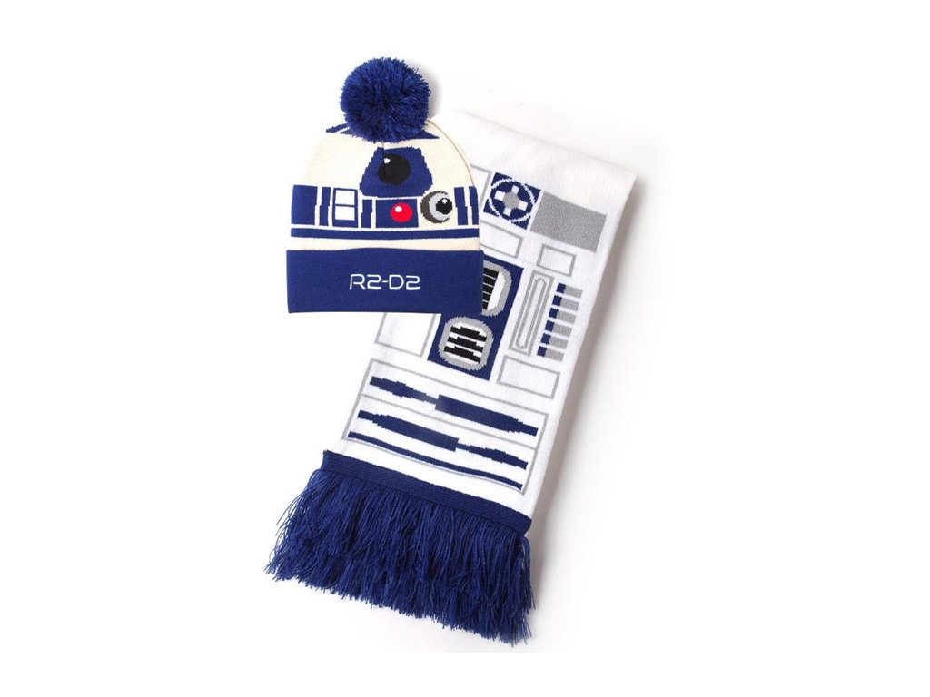 Zimní dárkový set čepice a šála Star Wars|Hvězdné Války: R2-D2 (universální)