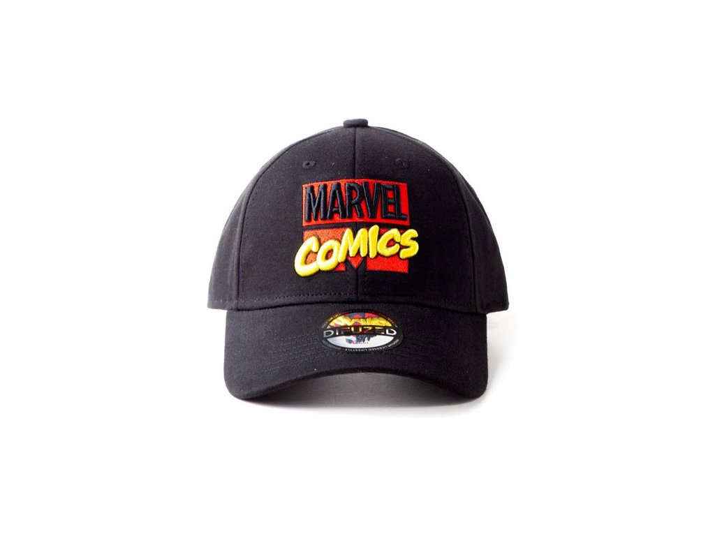 Kšiltovka Marvel: 3D Embroidery Logo (nastavitelná) černá