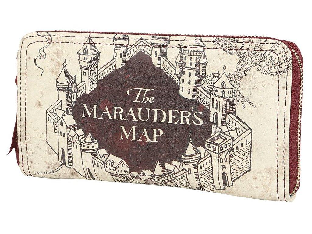 Dámská peněženka psaníčko Harry Potter: Marauder's Map - Pobertův plánek (20 x 10,5 x 2,5 cm) polyuretan