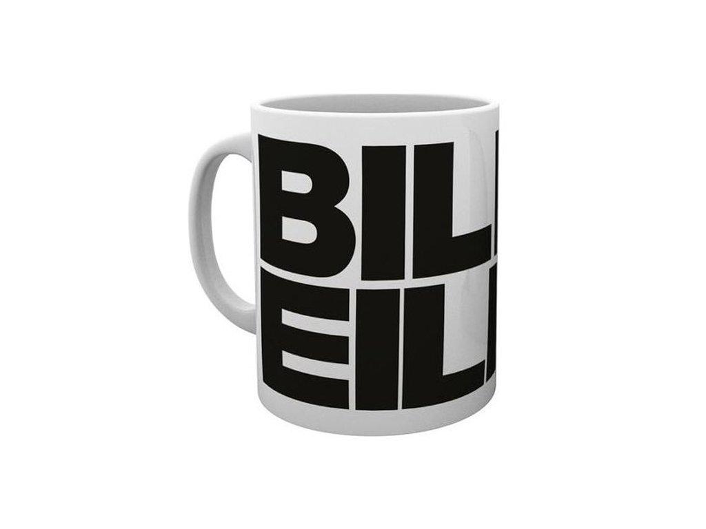 Keramický hrnek Billie Eilish: Logo (objem 300 ml) bílý
