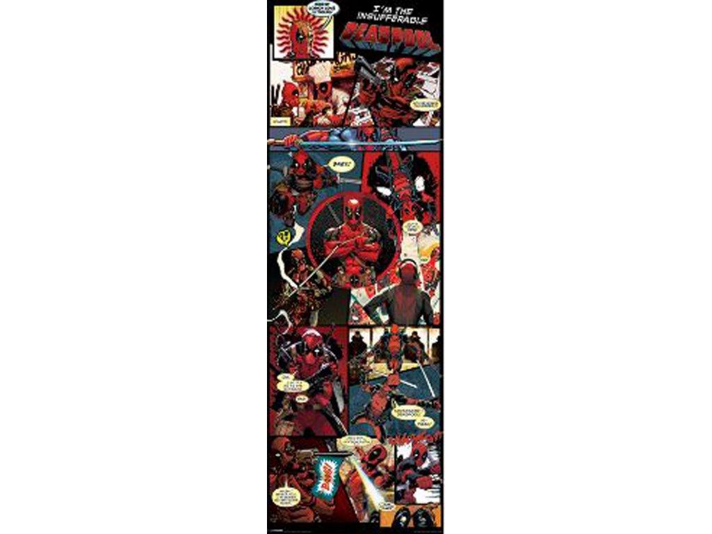 Plakát na dveře Marvel Deadpool: Panels (53 x 158 cm)